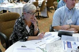 Claudia at Rogue CC table