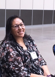 Dr. Twyla Baker, President, Nueta Hidatsa Sahnish College, smiles after presenting college success strategies.